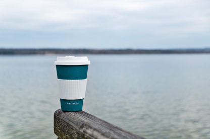 Kaffeebecher to Go Bamboo blau lifestyle