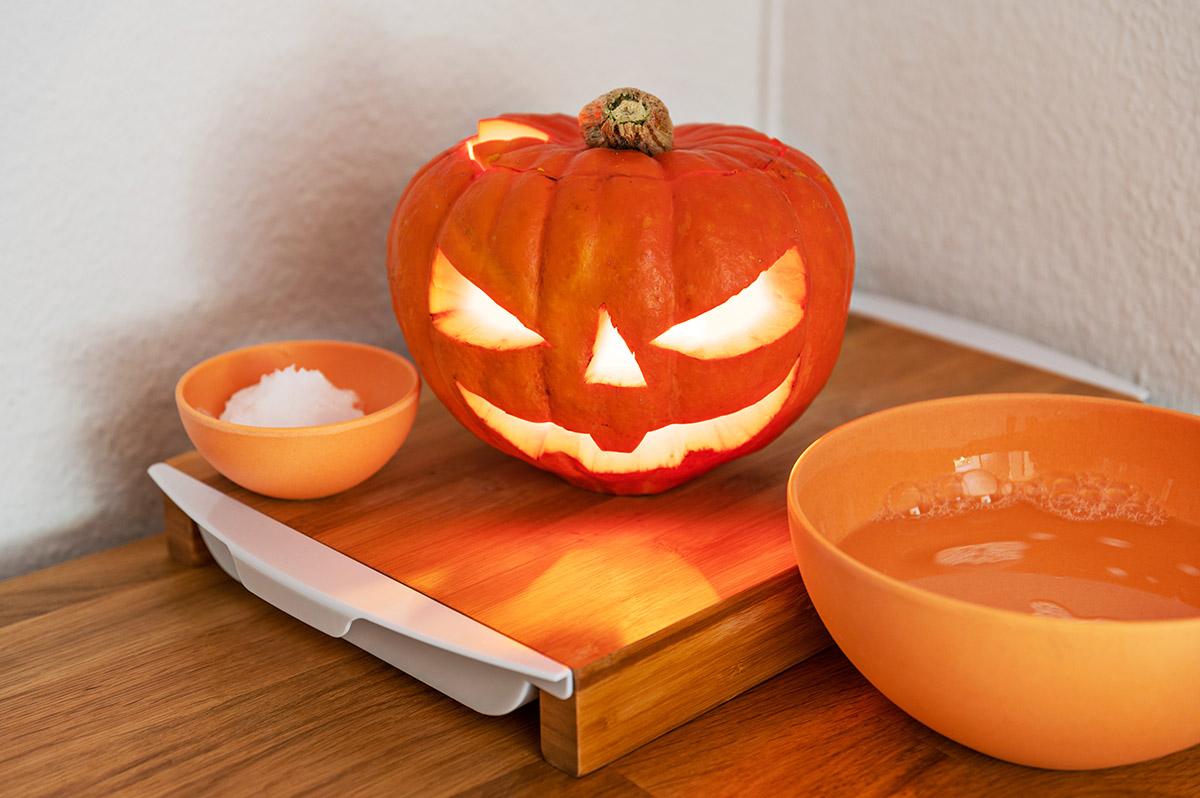 Halloween Kuerbis haltbar machen