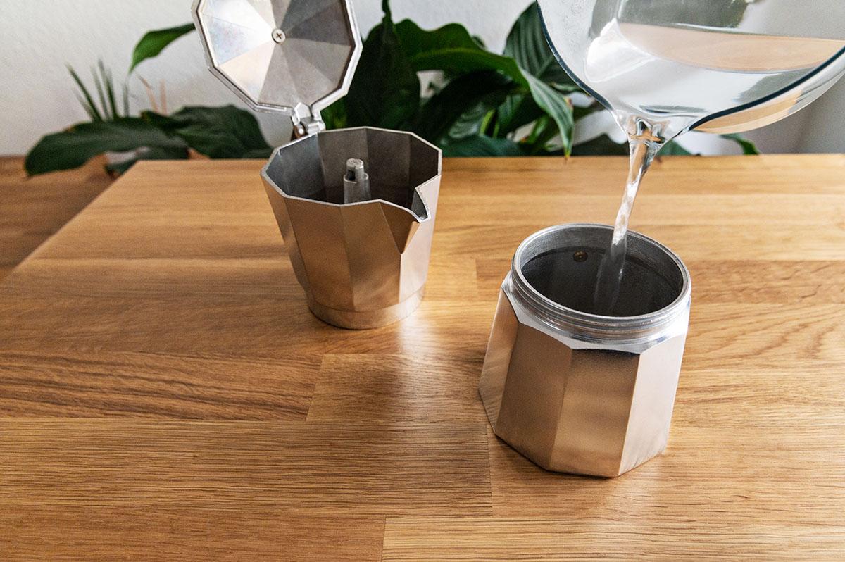 Espresso Kanne zerlegt