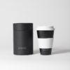 Kaffeebecher to go bamboo schwarz