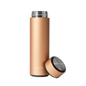 Isolierflasche hot steel gold