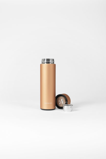 isolierflasche hot steel gold