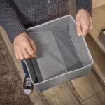 Aufbwahrungsbox Cotton Grau