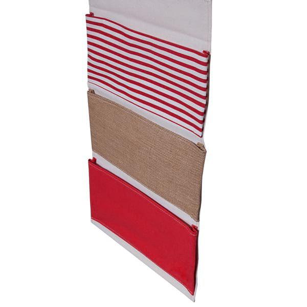 Haengeaufbewahrung Lineea Rot Leinen