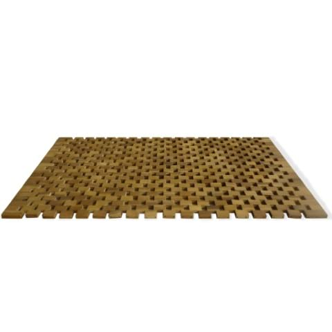Badematte Mosaic Labyrinth Holz