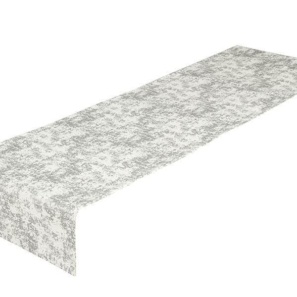Tischlaufer Silberstreif Grau