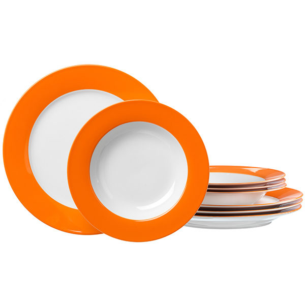 Tafelservice Doppio Orange