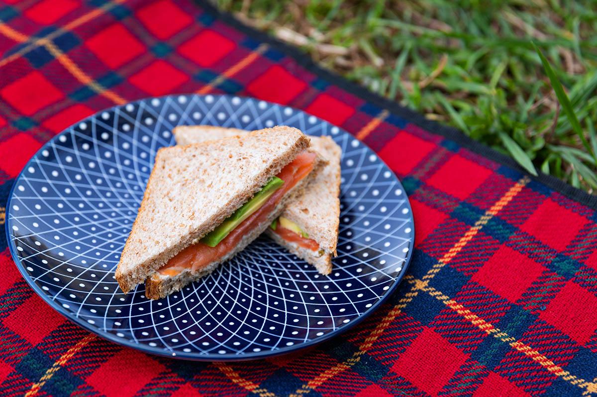 avocado lachs sandwich als Picknickidee ohne kochen
