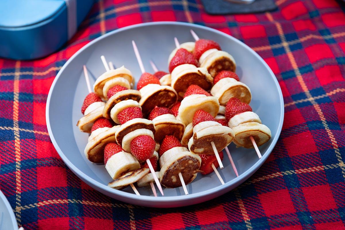 Desserspieße als einfache Picknickidee