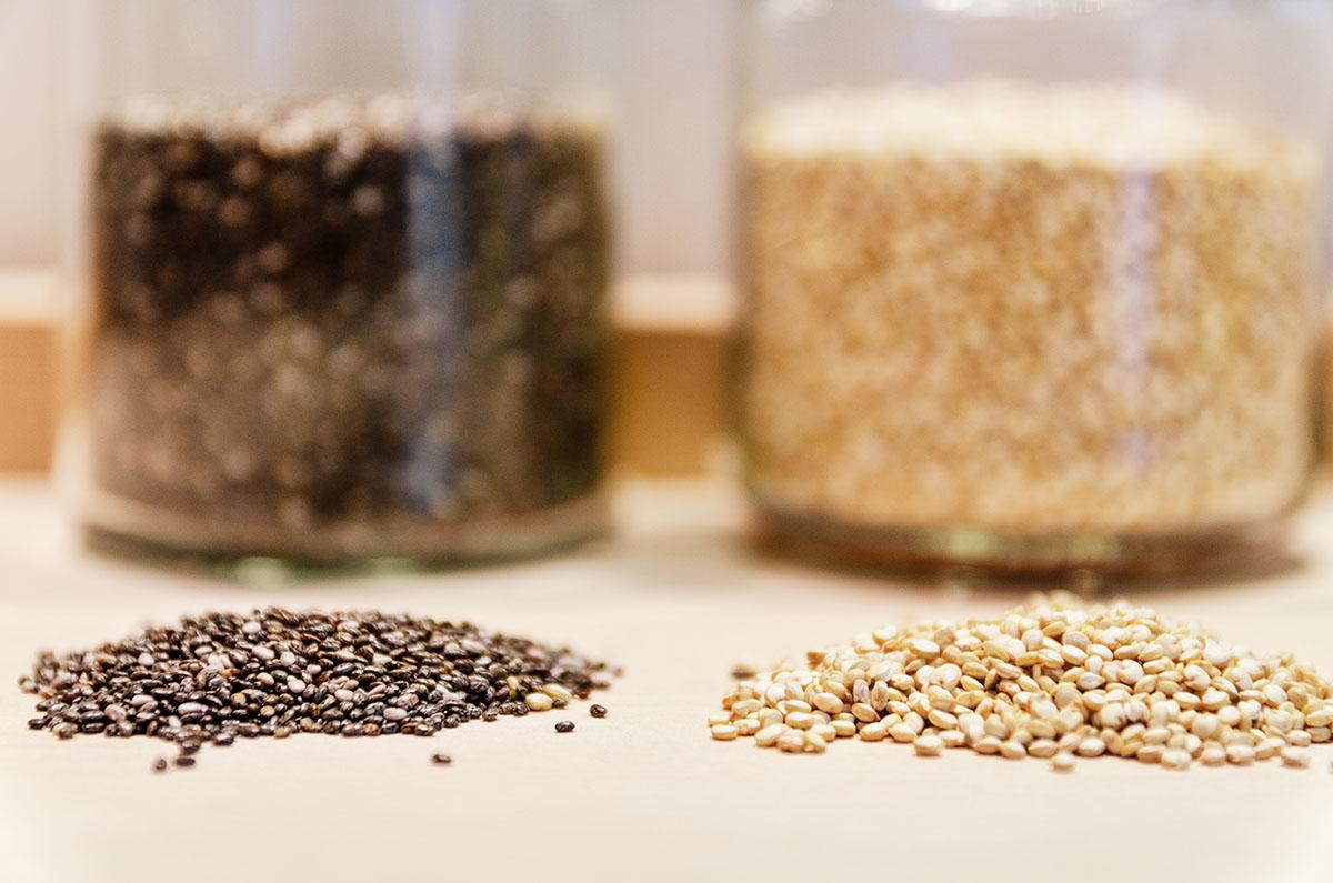 Quinoa samen und chiasamen