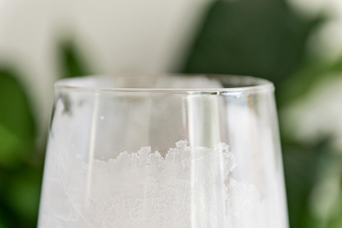 Eislicht aus Salzkristall