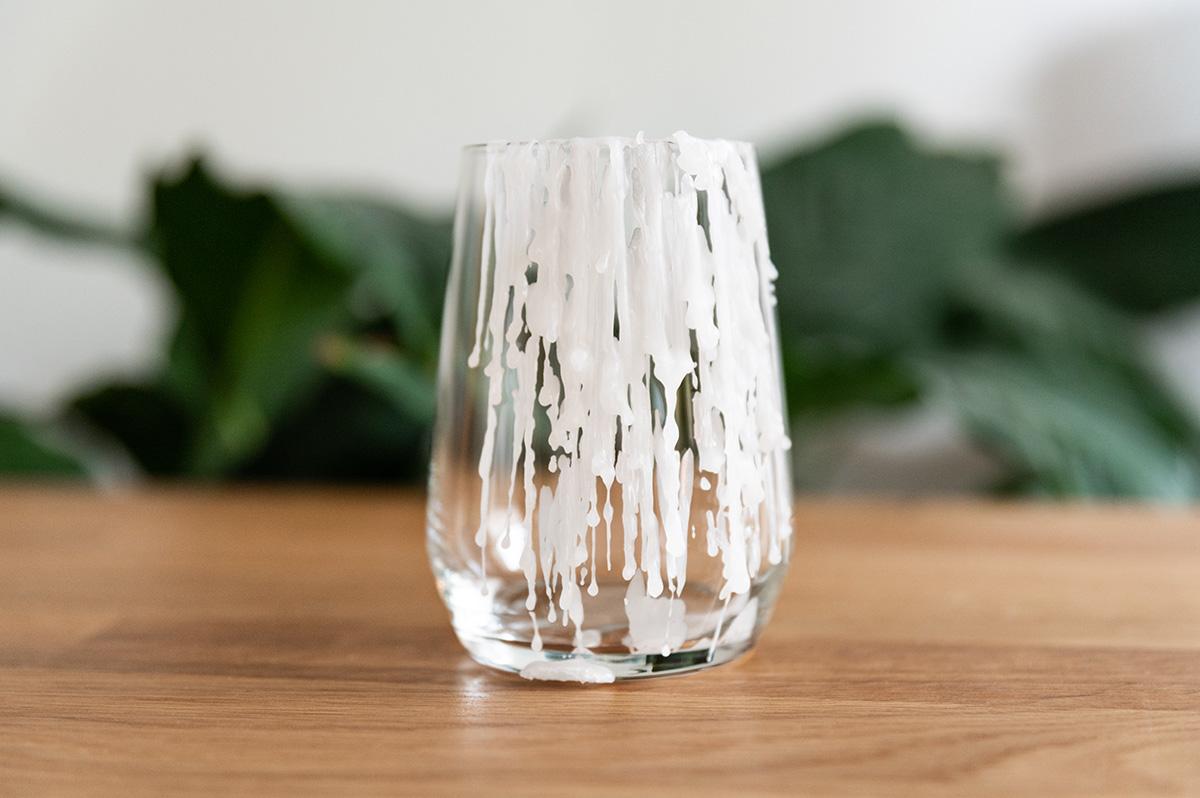 Wachsflecken entfernen Glas