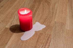 Kerzenwachs entfernen