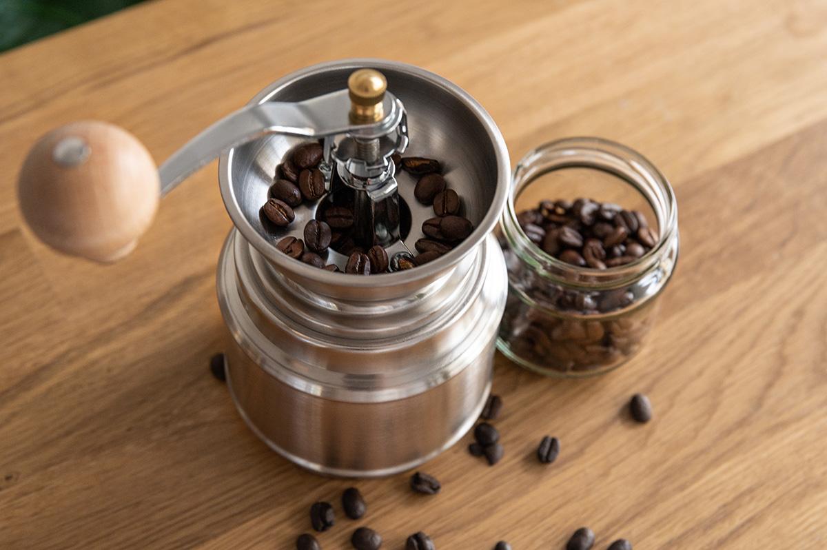 Kaffeebohnen fuer Espresso mahlen