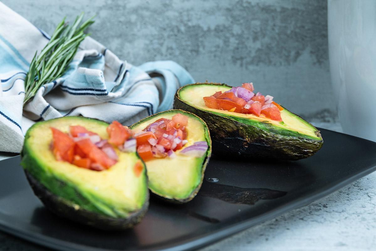 gegrillte avocado